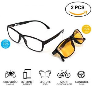 lunettes jeux vid o lunettes anti lumi re bleue lot 2. Black Bedroom Furniture Sets. Home Design Ideas