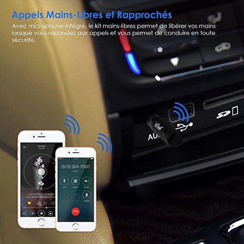 r cepteur bluetooth 4 1 voiture iegeek mini adapteur audio sans fil kit voiture mains libres. Black Bedroom Furniture Sets. Home Design Ideas