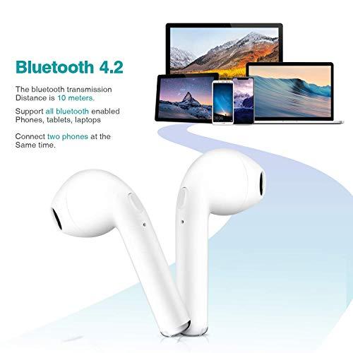 Adorezyp écouteurs Bluetooth 50 Sans Fil Casque Audio Avec Station De Recharge Iphone Samsung Et Kit Mains Libres